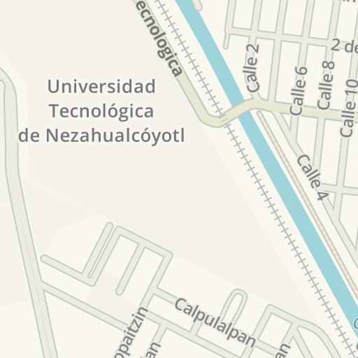 Nezahualcoyotl Mexico Map.Waze Livemap Driving Directions To Copy Inter Nezahualcoyotl Mexico