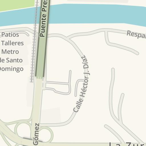 Santo Domingo Metro Map.Waze Livemap Driving Directions To Gimnasio Puntofit Santo