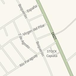 Waze Livemap Driving Directions to farmacia JN Capiat Paraguay