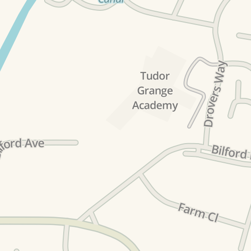 Waze Livemap - Driving Directions to Tudor Grange Academy