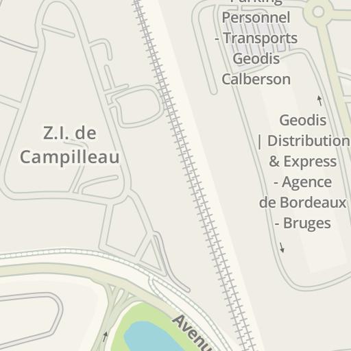 Bruges France Map.Waze Livemap Driving Directions To Fraikin Bruges France