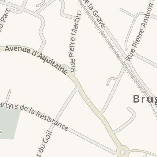 Bruges France Map.Waze Livemap Driving Directions To Dietplus Bruges Bruges France