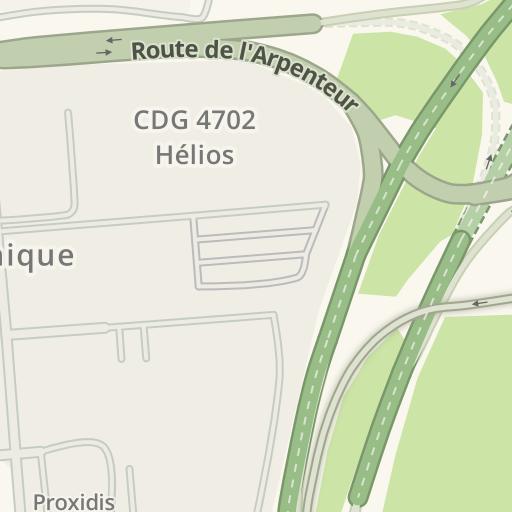 Waze Livemap - Driving Directions to Hangar H2 AIR FRANCE DGI ...