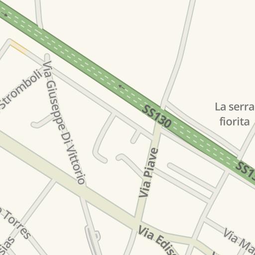 Waze Livemap Driving Directions To La Serra Fiorita Assemini Italy