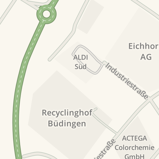 Budingen Germany Map.Waze Livemap Driving Directions To Recyclinghof Budingen Budingen