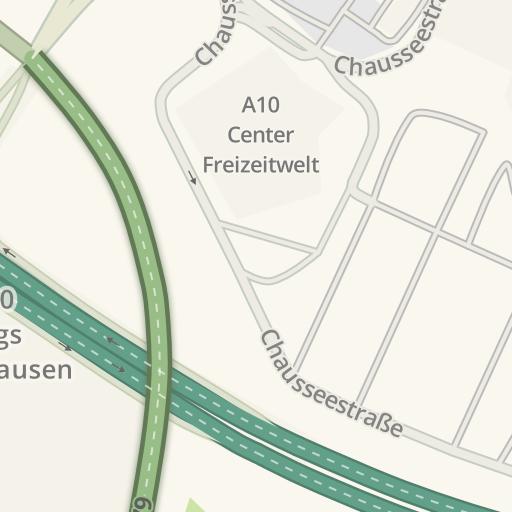 Waze Livemap Driving Directions To Aldi Wildau Am A10 Center