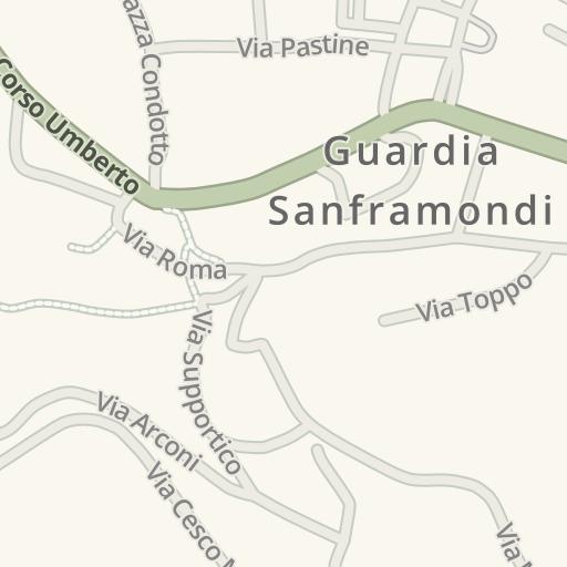 Waze Livemap Driving Directions To Parcheggio Guardia Sanframondi