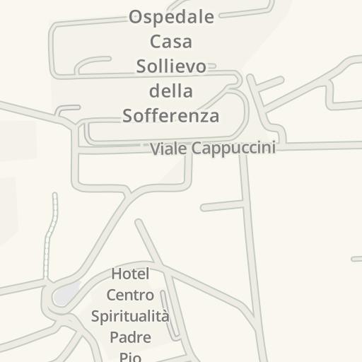 San Giovanni Rotondo Italy Map.Waze Livemap Driving Directions To Parco Via Crucis San Giovanni