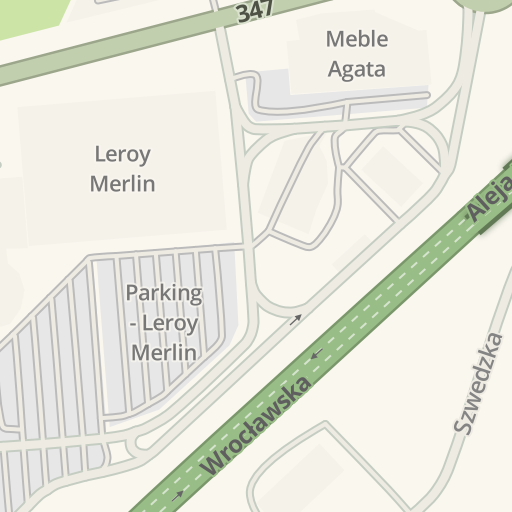 Waze Livemap Driving Directions To Meble Agata Bielany Wroclawskie