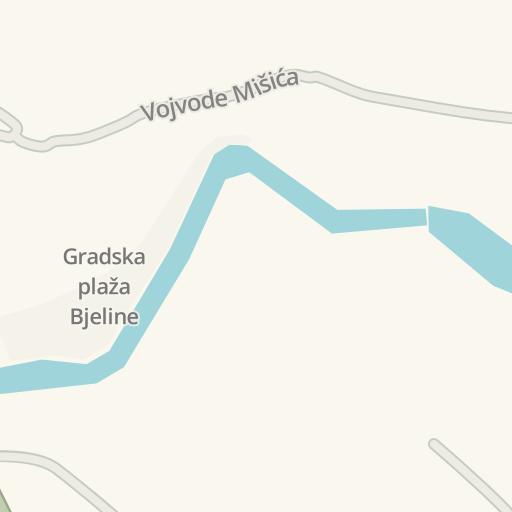 Waze Livemap Driving Directions To Rujika Kotor Varos Bosniaherzegowina