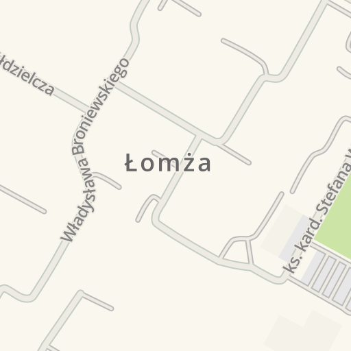 Lomza Poland Map.Waze Livemap Driving Directions To Fast Food Kebab Lomza Poland