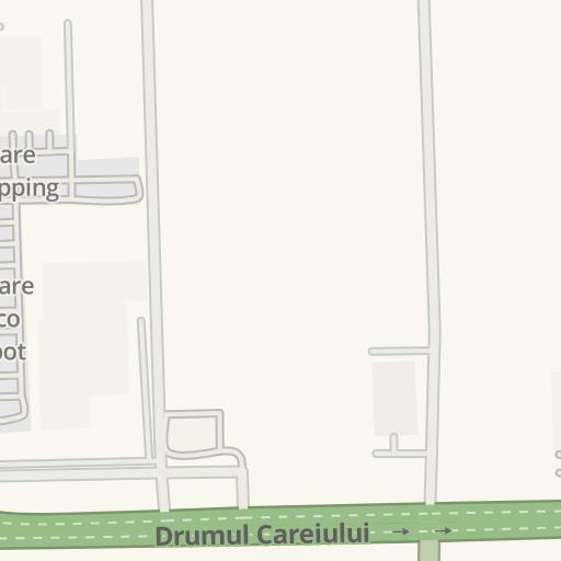 Waze Livemap Driving Directions To Brico Depot Satu Mare Romania