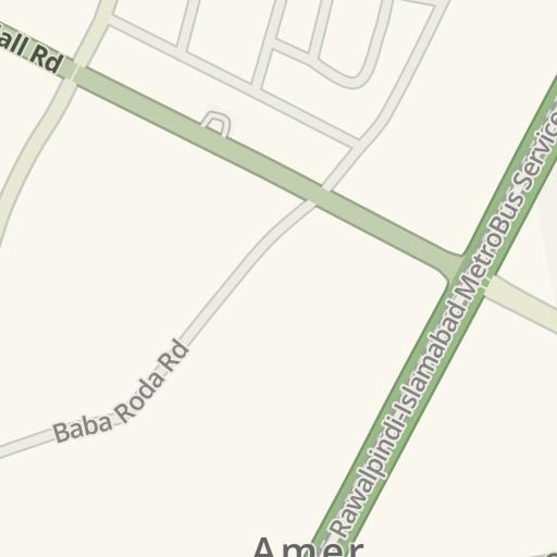 Driving Directions to Benazir Bhutto Hospital, Rawalpindi