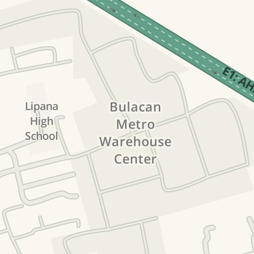 Waze Livemap Driving Directions To Bulacan Metro Warehouse Center