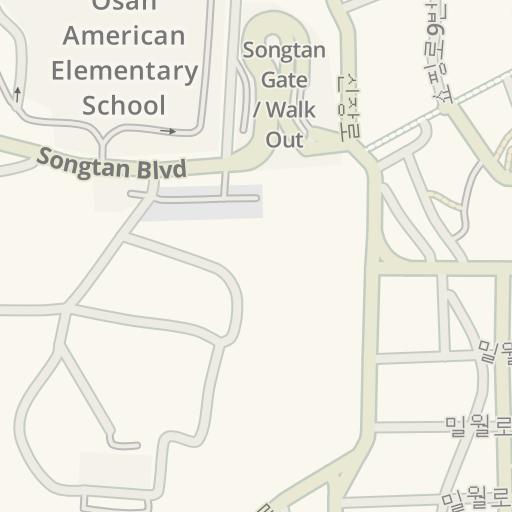 Osan South Korea Map.Waze Livemap Driving Directions To 499 Osan Air Base South Korea
