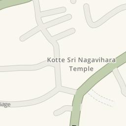 Driving directions to Kotte Rajamaha Viharaya Maharagama Sri Lanka